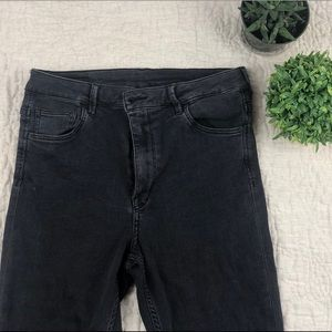 H&M charcoal high waisted soft skinny jeans